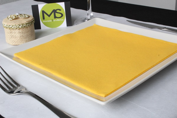 servilleta desechable tissue seco amarillo