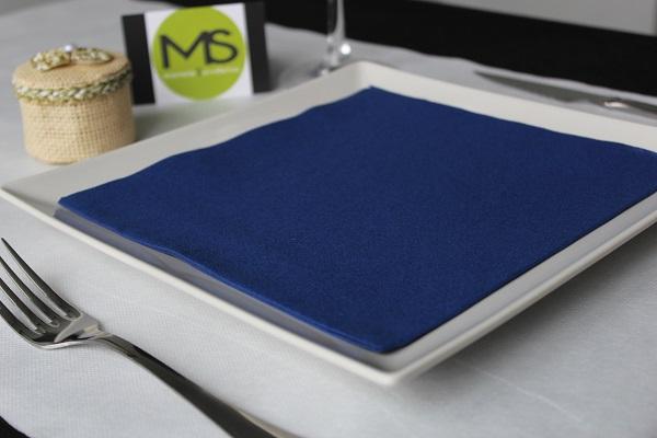 servilleta desechable tissue seco azul