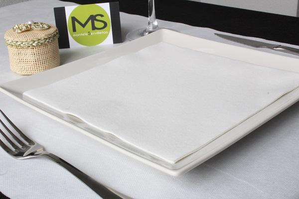 servilleta desechable tissue seco blanco
