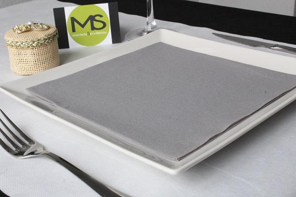 servilleta desechable tissue seco gris