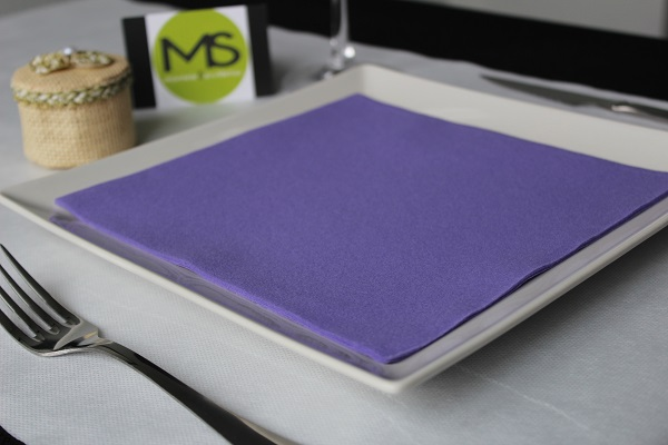 servilleta desechable tissue seco morado