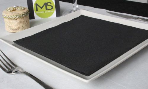 servilleta desechable tissue seco negro