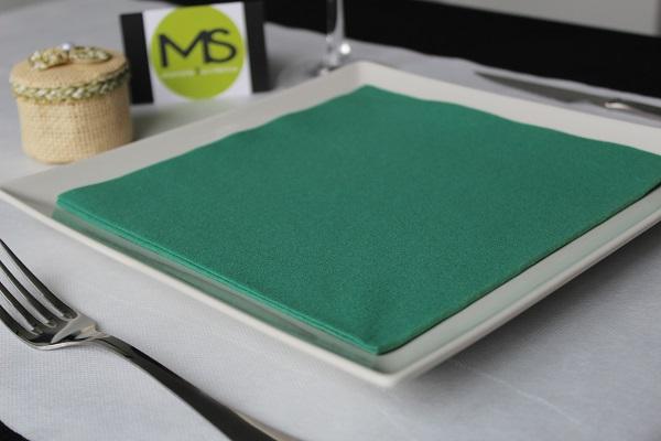 servilleta desechable tissue seco verde
